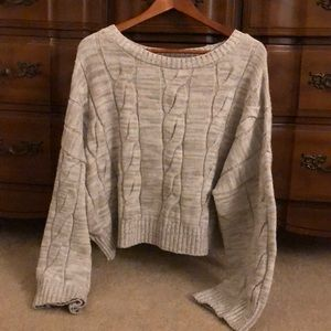EXPRESS Cropped Wide Sweater